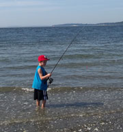 Fisher McCloud casting at Point Julia