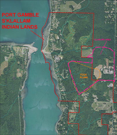 Landfill plume and closure areas