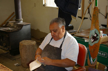 Tribal carver Floyd Jones