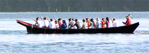 A canoe was recently built for the Port Gamble S'Klallam Tribe by Duane Pasco.